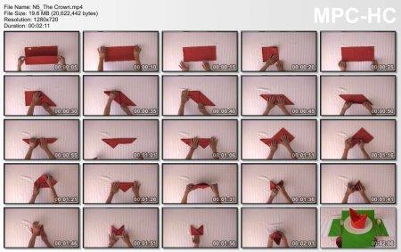 فیلم آموزش طرز آموزش تزئین دستمال سفره (تاج)