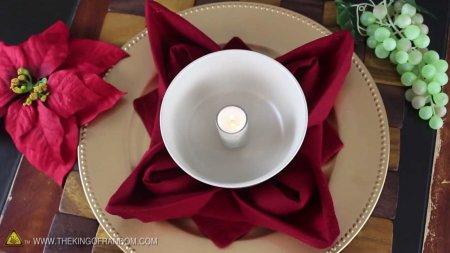 فیلم آموزش طرز درست کردن دستمال سفره به شکل گل رز