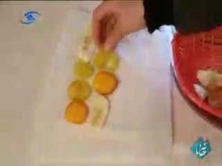 فیلم آموزش نحوه خشک کردن میوه ها - خانم کلیایی
